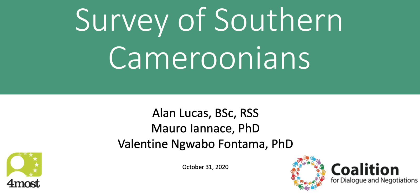 Survey of Southern Cameroonians Shows Overwhelming Support Full Independence